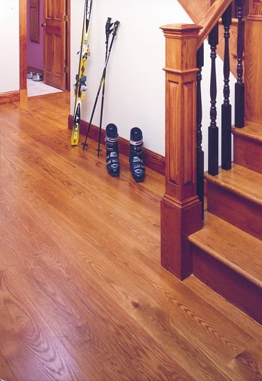 Red Oak - Stair way with Ski Boots
