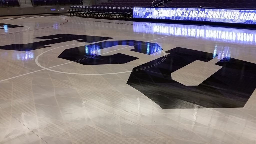 Tcu Nike Frogskin Court Logo Z Floor Sport Flooring