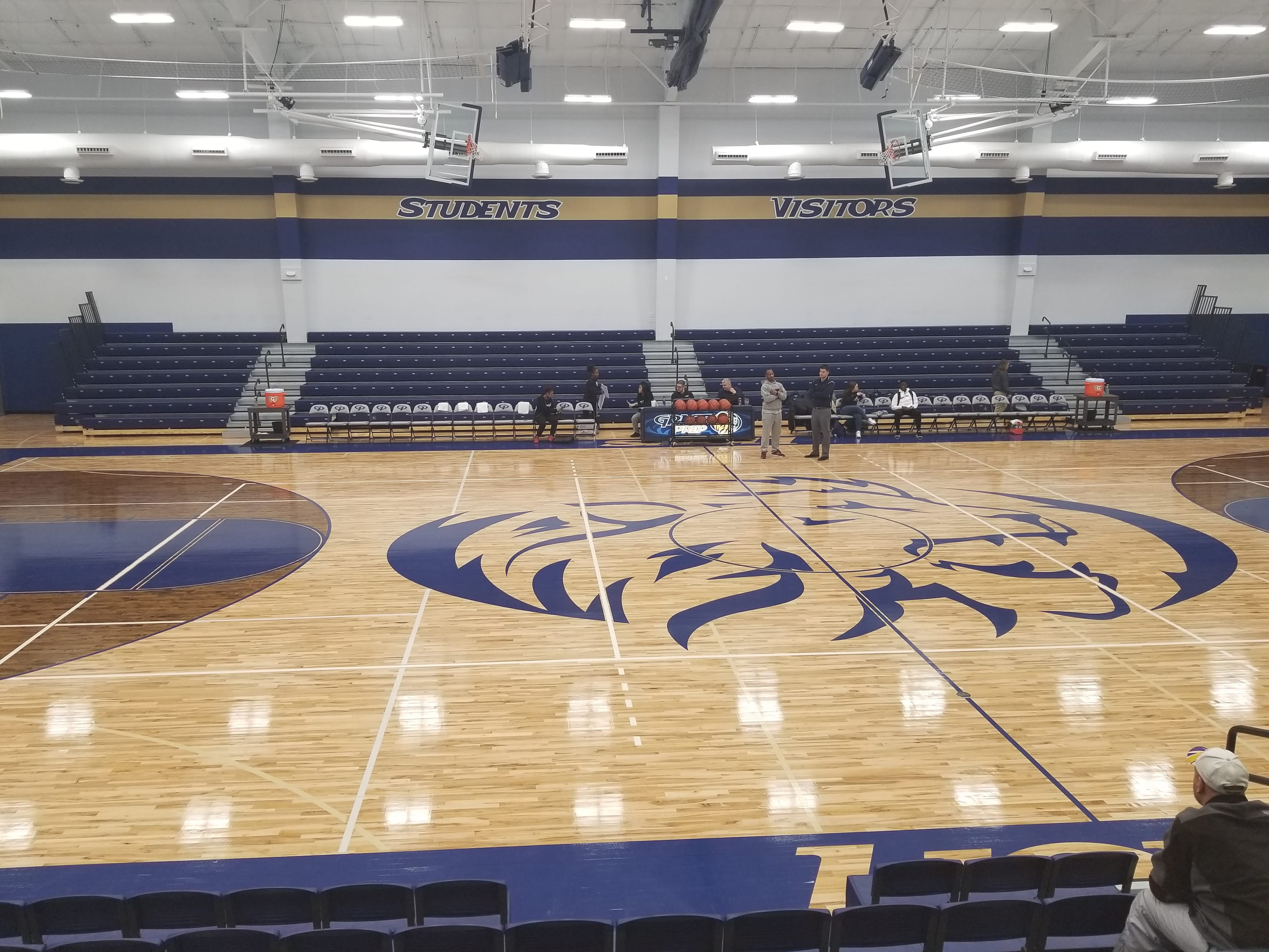 Grace Prep Academy - Arlington TX Basketball Gym Floor