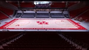 Basketball court at Fertitta Center, Houston