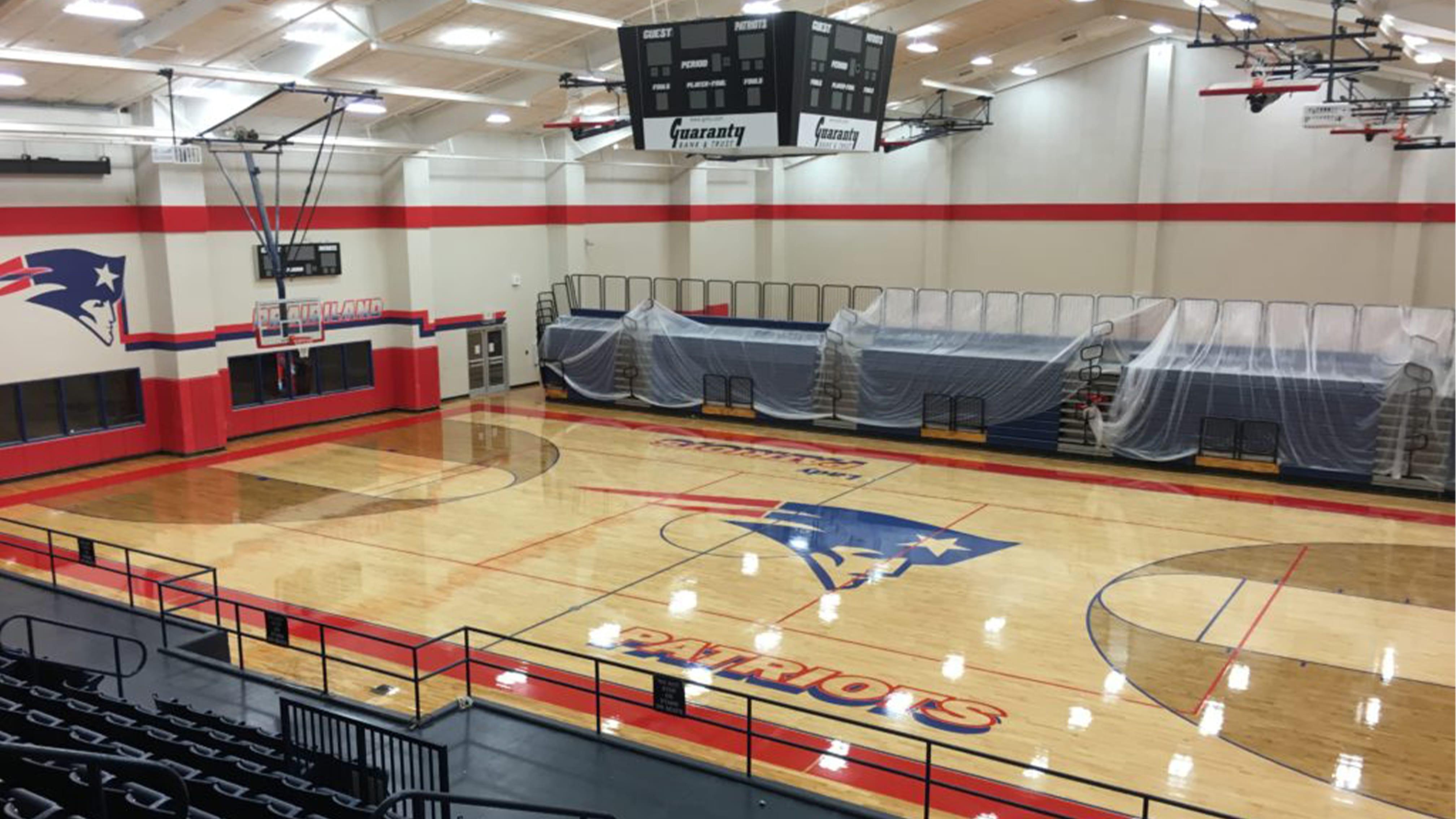 Prairieland High School Basketball Gym Z Floor Sport