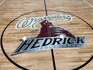 Hedrick Middle School - Air-brushed logo
